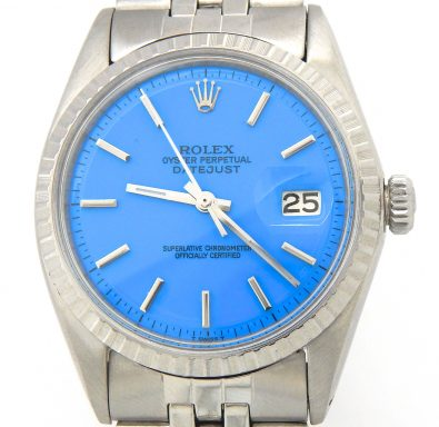 Rolex Stainless Steel Datejust 1603 Blue -9