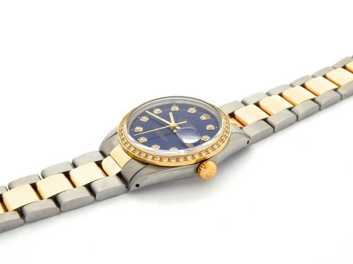 Rolex Two-Tone Datejust 16013 Blue Diamond-5