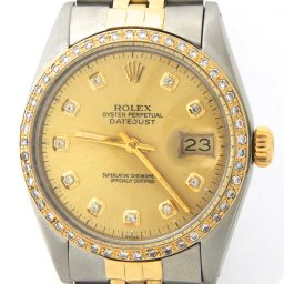 Mens Rolex Two-Tone 14K/SS Datejust Champagne Diamond 16013 (SKU 5621605MT)