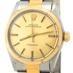 Rolex Two-Tone Oyster Speedking Precision Champagne 6430 (SKU 6002784MT)
