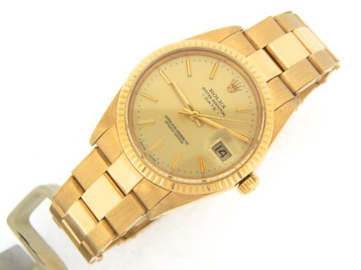 Rolex 18K Yellow Gold Date 15038 Champagne -7