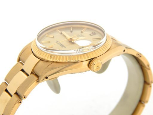 Rolex 18K Yellow Gold Date 15038 Champagne -6