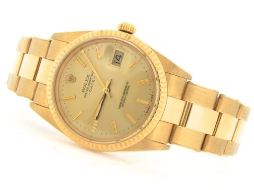 Rolex 18K Yellow Gold Date 15038 Champagne -9