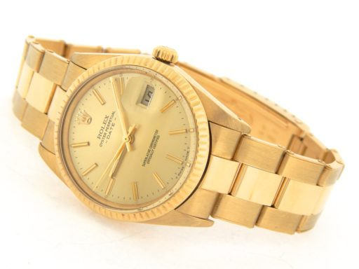 Rolex 18K Yellow Gold Date 15038 Champagne -8