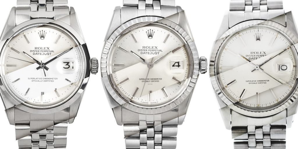 Quick Comparison Guide: Stainless Steel Rolex Datejust 1600, 1601, 1603, 16000, 16014, 16030