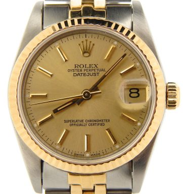 Rolex Two-Tone Datejust 68273 Champagne -1