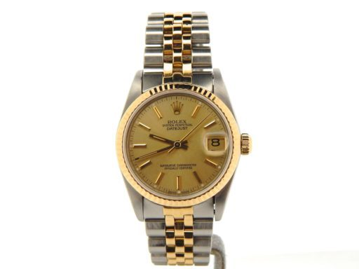 Rolex Two-Tone Datejust 68273 Champagne -7