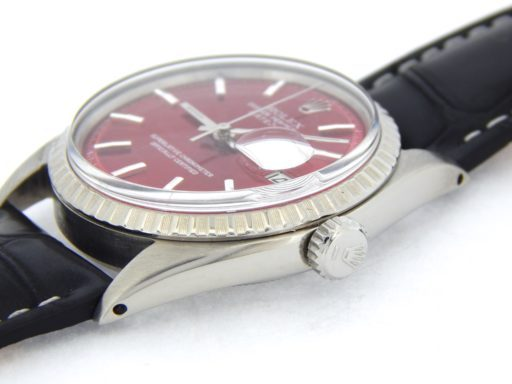 Rolex Stainless Steel Datejust 1603 Red -4