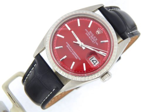 Rolex Stainless Steel Datejust 1603 Red -8