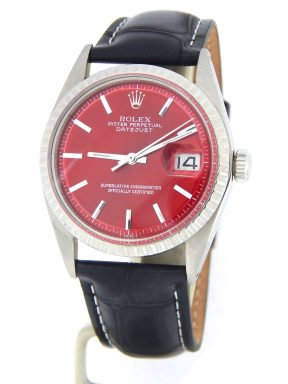 Rolex Stainless Steel Datejust 1603 Red -9