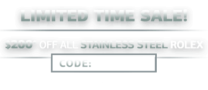 Stainless Steel Rolex Watches - On Sale Now!