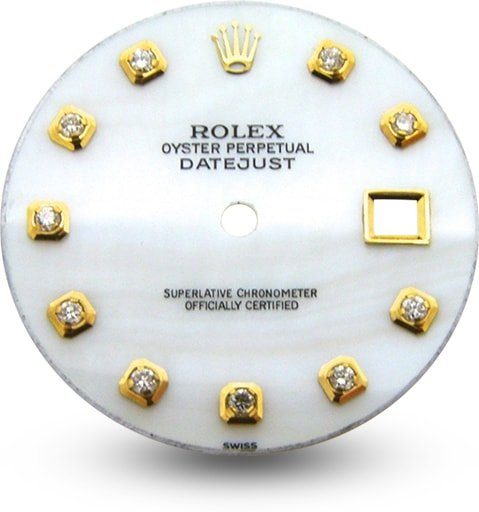 Rolex Datejust Dial Aftermarket Diamonds