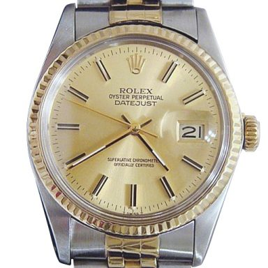 Mens Rolex Two-Tone 18K/SS Datejust Champagne  16013 (SKU 8517894BCMT)