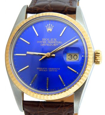 Rolex Two-Tone Datejust 16013 Blue -1