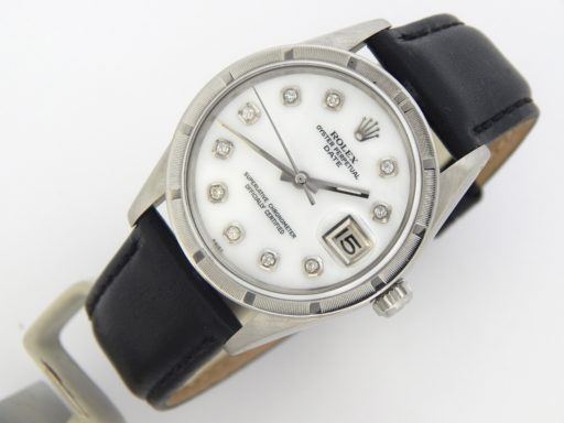 Rolex Stainless Steel Date 15010 White MOP Diamond-7
