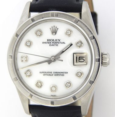 Rolex Stainless Steel Date 15010 White MOP Diamond-1