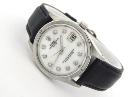 Rolex Stainless Steel Date 15010 White MOP Diamond-6
