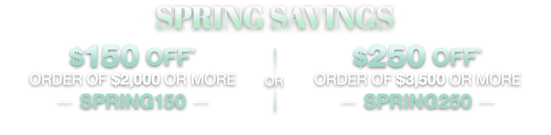 Spring Savings SALE!