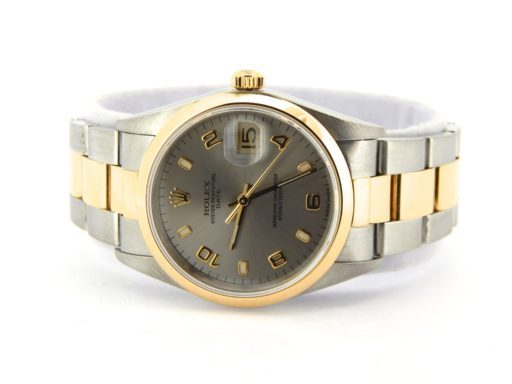 Rolex Two-Tone Date 15203 Gray, Slate Arabic-5