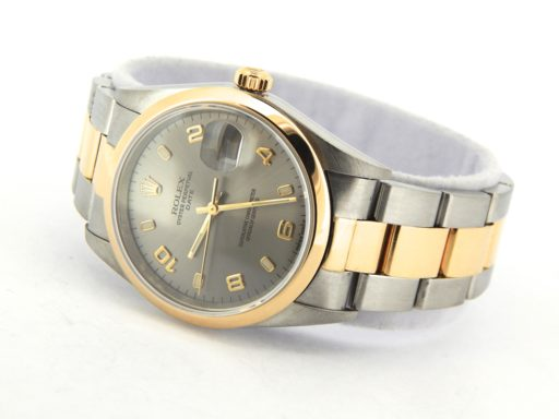Rolex Two-Tone Date 15203 Gray, Slate Arabic-7
